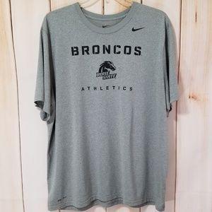 Nike BSU Boise State Gray Dri-Fit Athletic Shirt